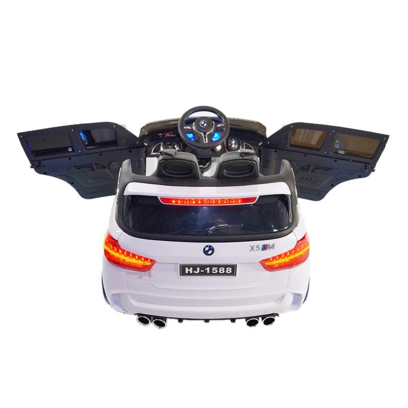 Ηλεκτροκίνητο παιδικό αυτοκίνητο τύπου BMW X5 12v Μαύρο με τηλεκοντρόλ, ελαστικά 12V  HJ1588