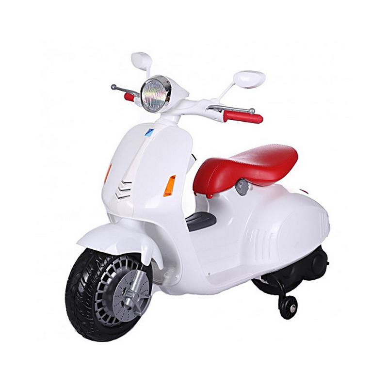 ScorpionWheels Ηλεκτροκίνητη παιδικη μοτοσυκλέτα / μηχανή τύπου Vespa 12V Λευκή 5245036
