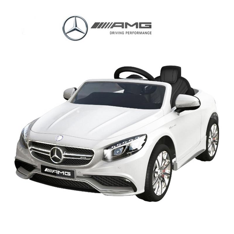ScorpionWheels Ηλεκτροκίνητο παιδικό αυτοκίνητο Licenced Mercedes S63 AMG 12v με τηλεκοντρόλ Λευκό 5246000
