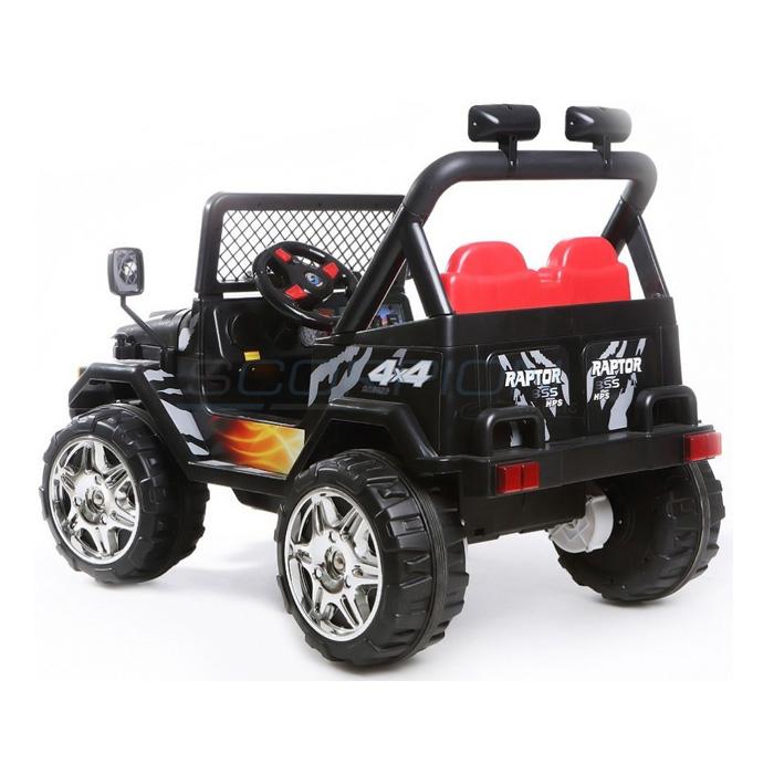 ScorpionWheels Ηλεκτροκίνητο παιδικό διθέσιο αυτοκίνητο τύπου Jeep Wrangler μαύρο 12v με τηλ/τρόλ 5247061