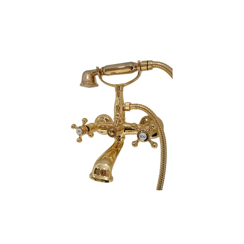 Μπαταρία λουτρού Retro / Ρετρό  με τηλέφωνο χρυσή Gaboli Fratelli ARAMIS 1037