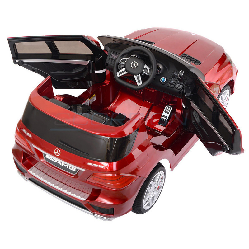 ScorpionWheels Ηλεκτροκίνητο παιδικό αυτοκίνητο Licenced Mercedes ML63 AMG 12v με τηλεκοντρόλ  Μπορντό 5247063