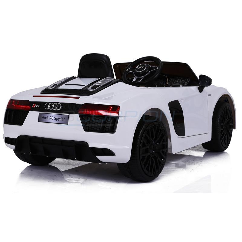 ScorpionWheels Ηλεκτροκίνητο παιδικό αυτοκίνητο Audi R8 Spyder Licenced 12v με τηλεκοντρόλ Λευκό 5246031