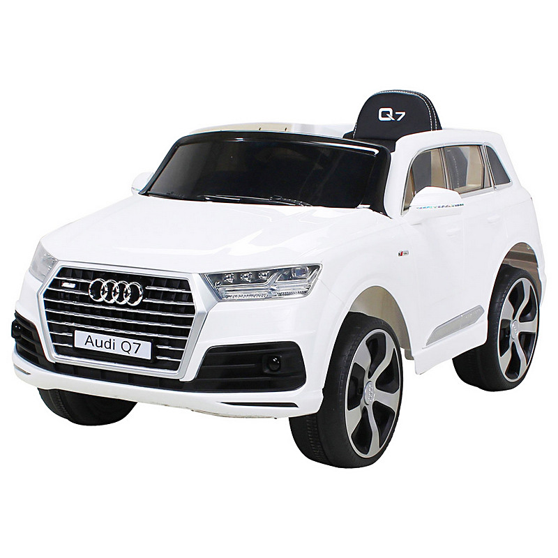 ScorpionWheels Ηλεκτροκίνητο παιδικό αυτοκίνητο Audi Q7  Licenced 12v με τηλεκοντρόλ Λευκό 5247008