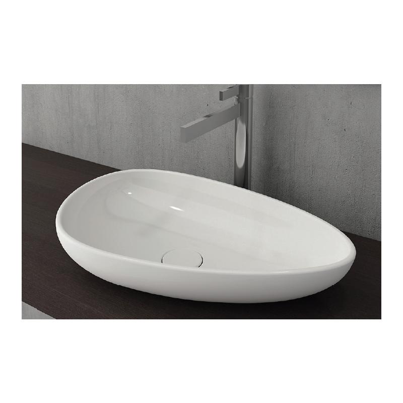 Νιπτήρας μπάνιου επικαθήμενος Bocchi Etna 58x37 cm λευκός