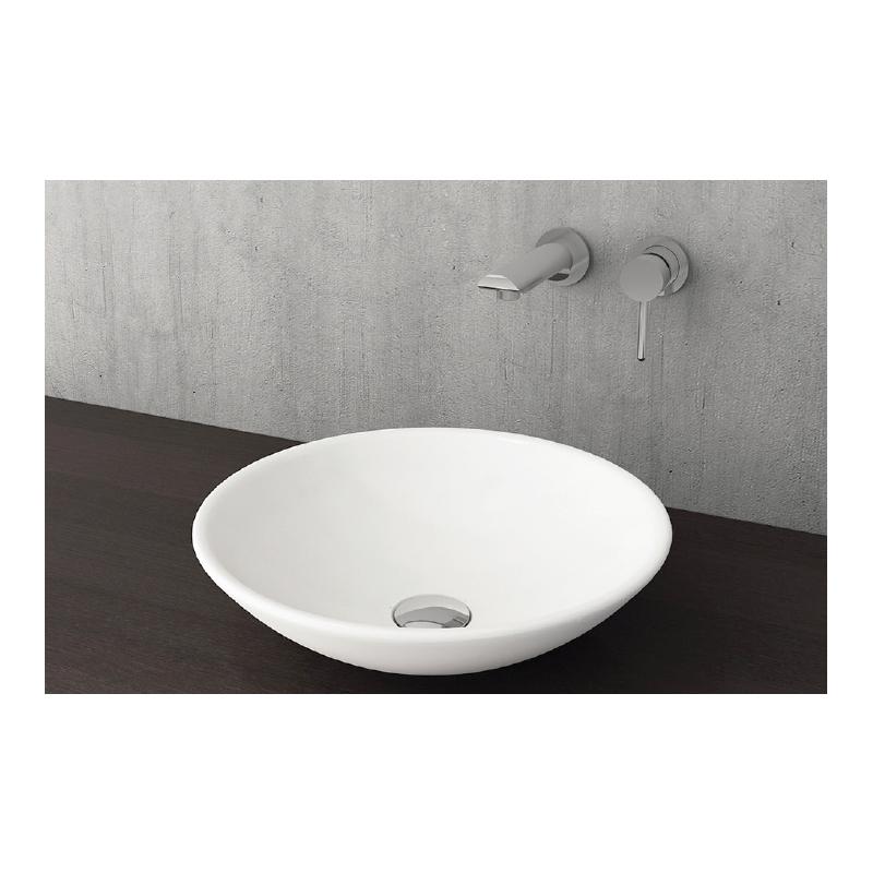 Νιπτήρας μπάνιου στρογγυλός επικαθήμενος Bocchi Venezia Lucca 40cm λευκός