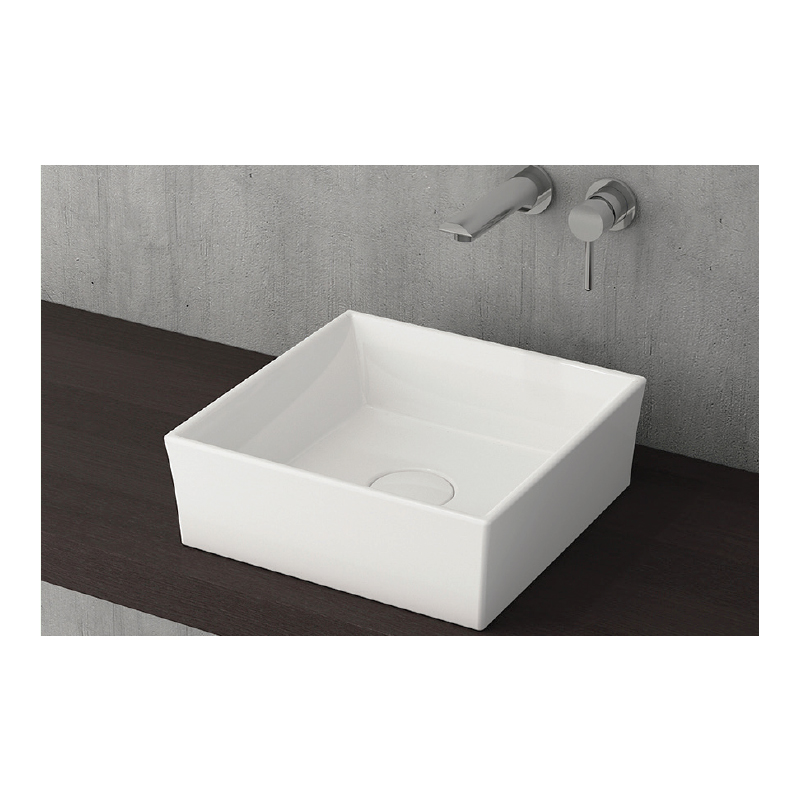 Νιπτήρας μπάνιου επικαθήμενος Bocchi Vessel 38x38 λευκός