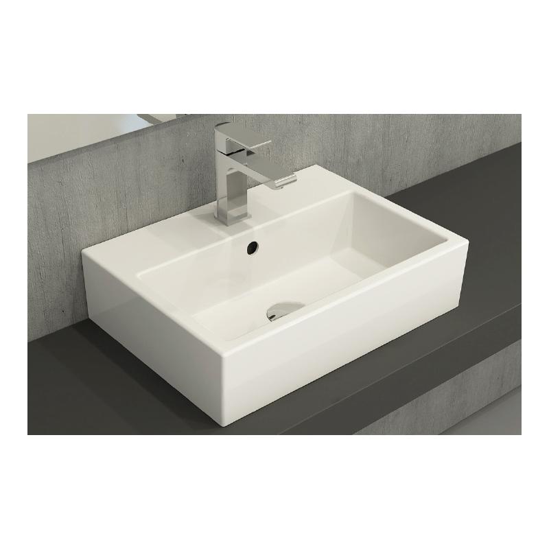 Νιπτήρας μπάνιου επικαθήμενος Bocchi Matteo 50x37 λευκός