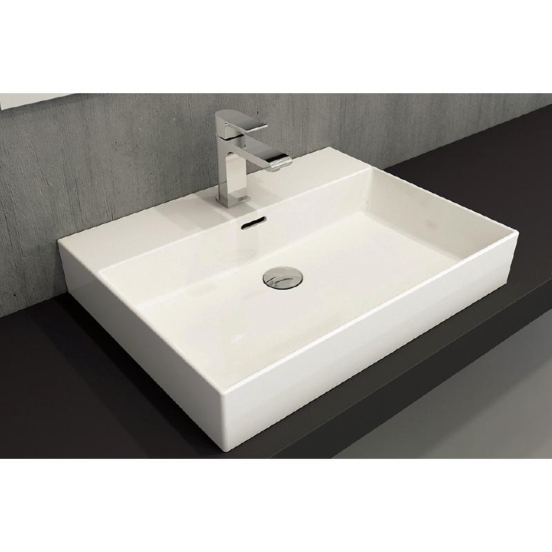 Νιπτήρας μπάνιου επικαθήμενος Bocchi Milano 60x46 λευκός