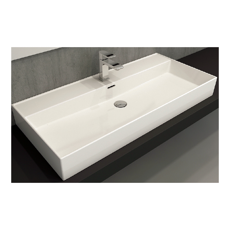 Νιπτήρας μπάνιου επικαθήμενος Bocchi Milano 100x46 λευκός
