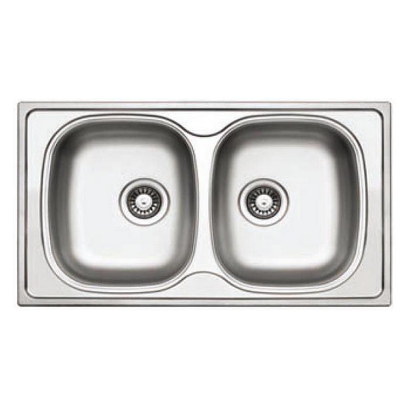 Νεροχύτης inox σαγρέ 86 x 50 cm KL sinks