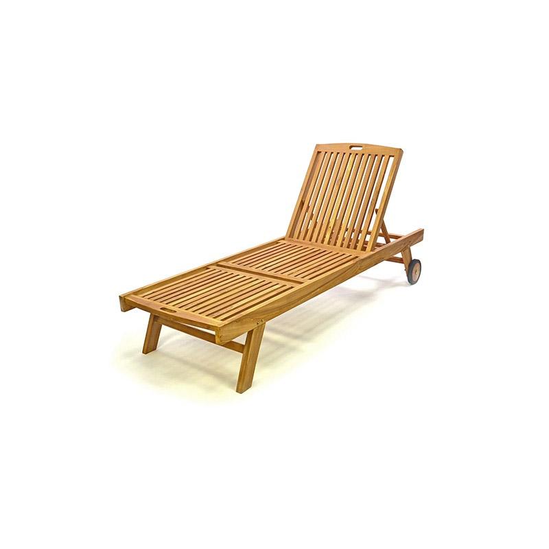 Ξαπλώστρα από ξύλο Teak  65 x 197cm