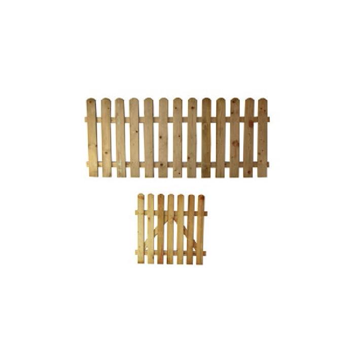 Ξύλινος Φράχτης Λεία Τάβλα εμποτισμένος Economy