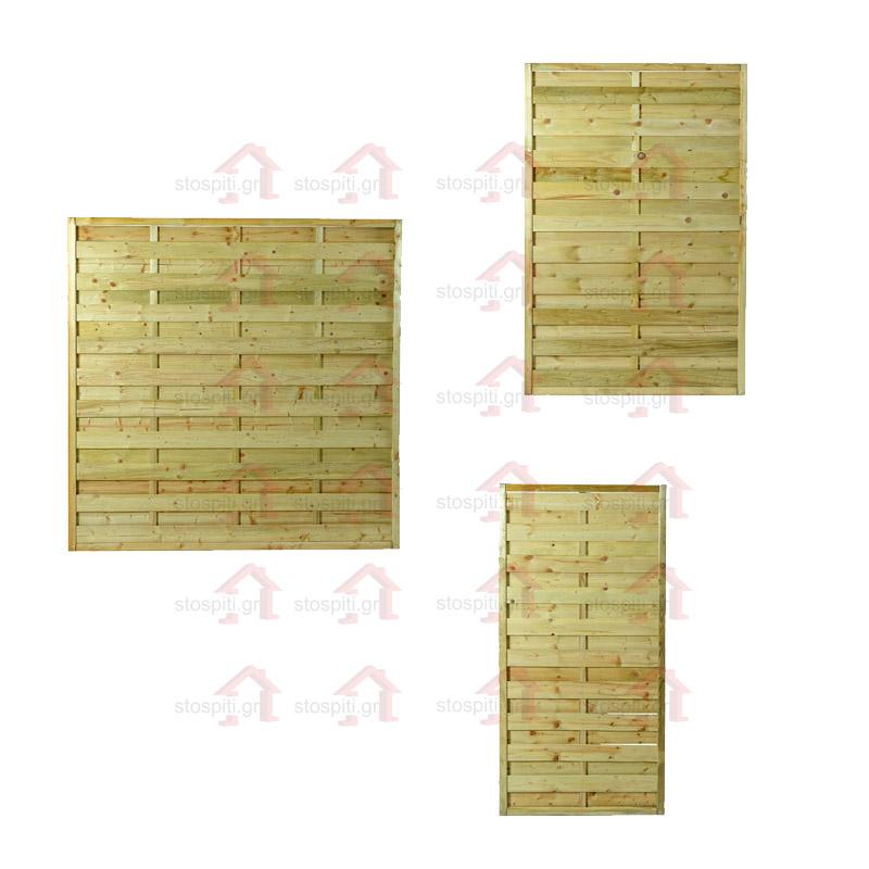 Κλειστό ξύλινο Πάνελ Περίφραξης Economy εμποτισμένο