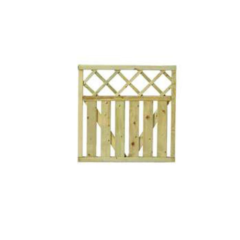 Πόρτα για Ξύλινο Φράχτη  Μπάκιγχαμ 90Y x 90cm