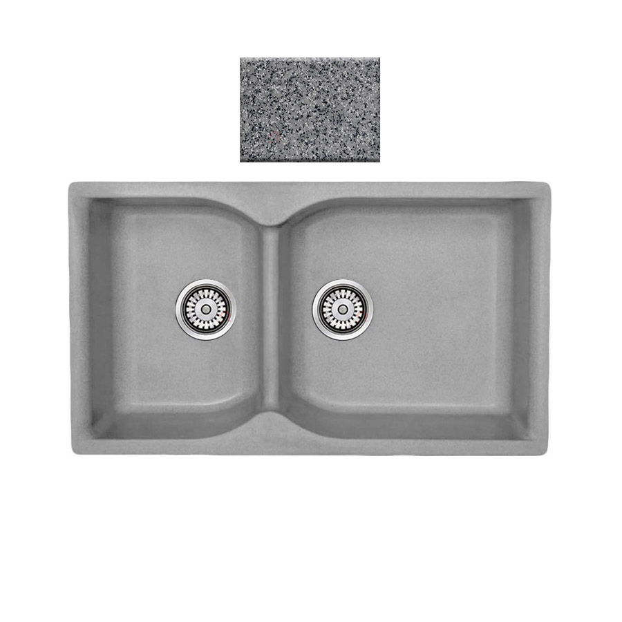 Νεροχύτης συνθετικού γρανίτη αντιστρεφόμενος,Sanitec Eclectic 307 2B 92x51cm Granite Grey