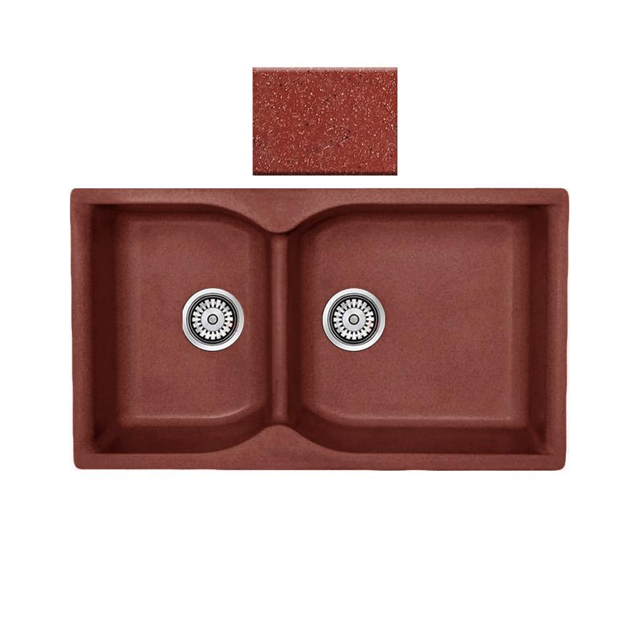 Νεροχύτης συνθετικού γρανίτη αντιστρεφόμενος,Sanitec Eclectic 307 2B 92x51cm Granite Terracotta