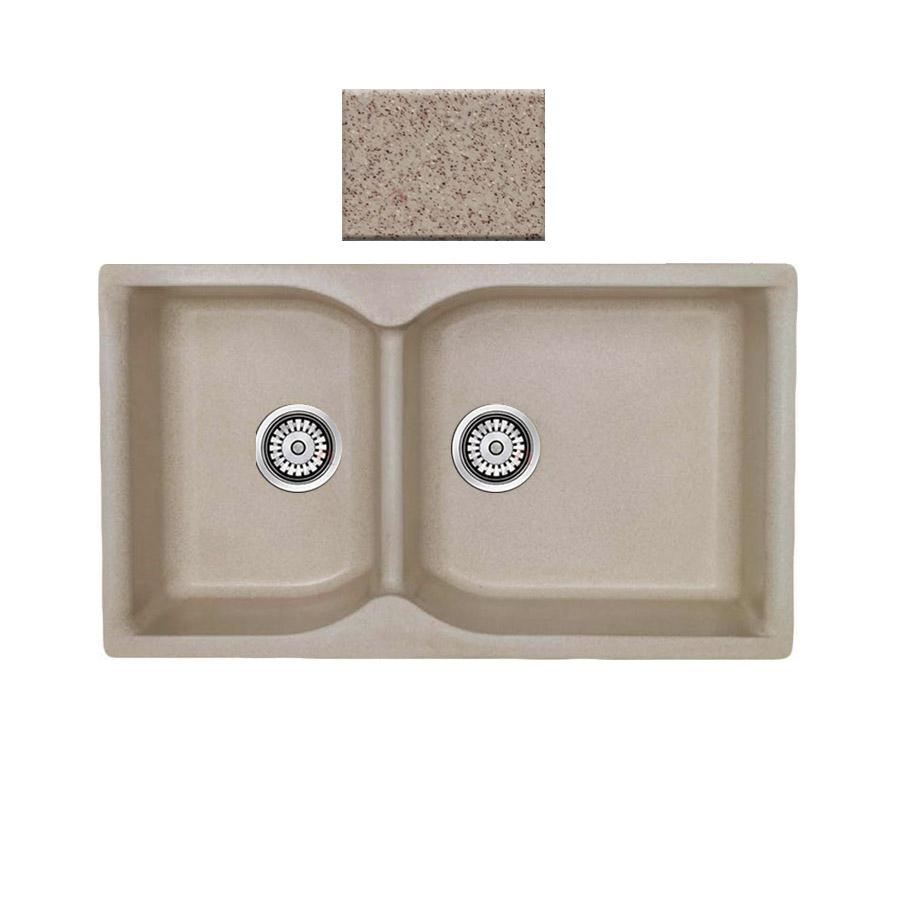 Νεροχύτης συνθετικού γρανίτη αντιστρεφόμενος,Sanitec Eclectic 307 2B 92x51cm Granite Sand