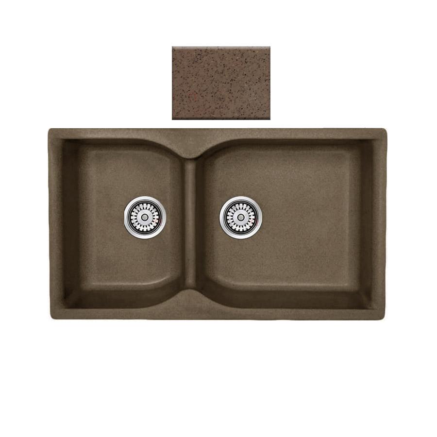Νεροχύτης συνθετικού γρανίτη αντιστρεφόμενος,Sanitec Eclectic 307 2B 92x51cm  Granite Rust