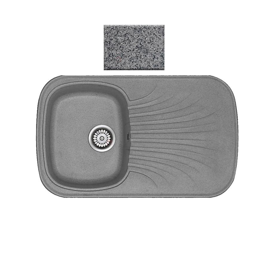 Νεροχύτης συνθετικού γρανίτη αντιστρεφόμενος Sanitec Premium 315 1B1D 82x50cm Granite Grey