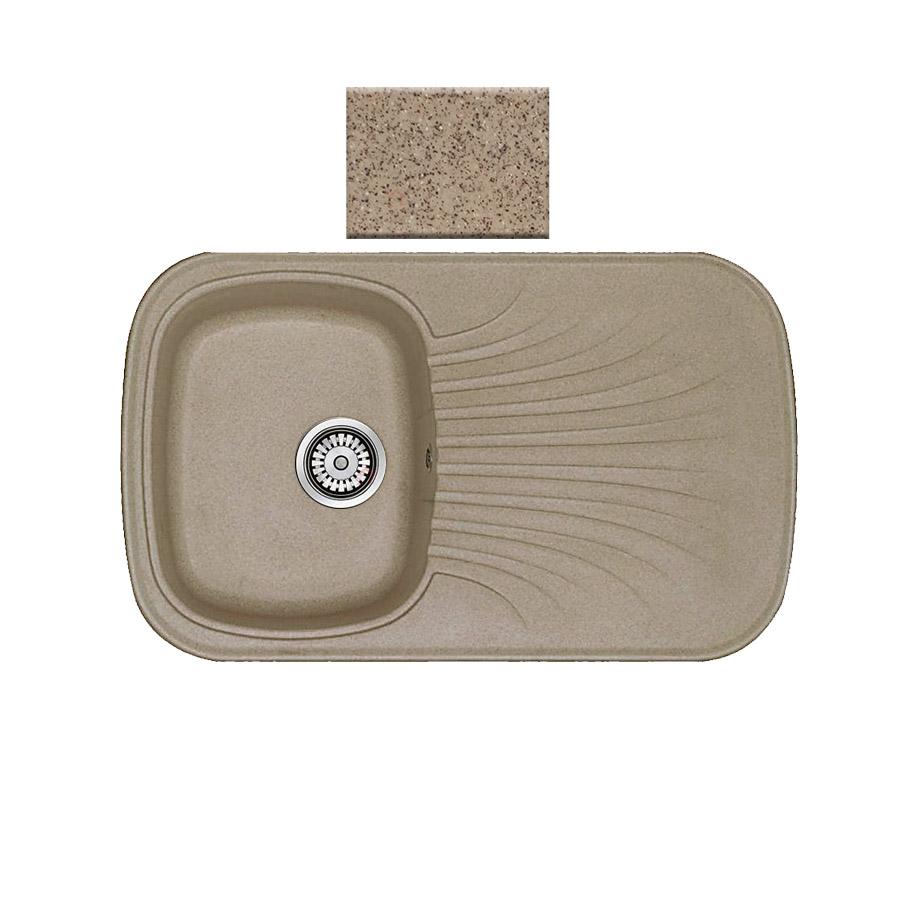 Νεροχύτης συνθετικού γρανίτη αντιστρεφόμενος Sanitec Premium 315 1B1D 82x50cm Granite Beige