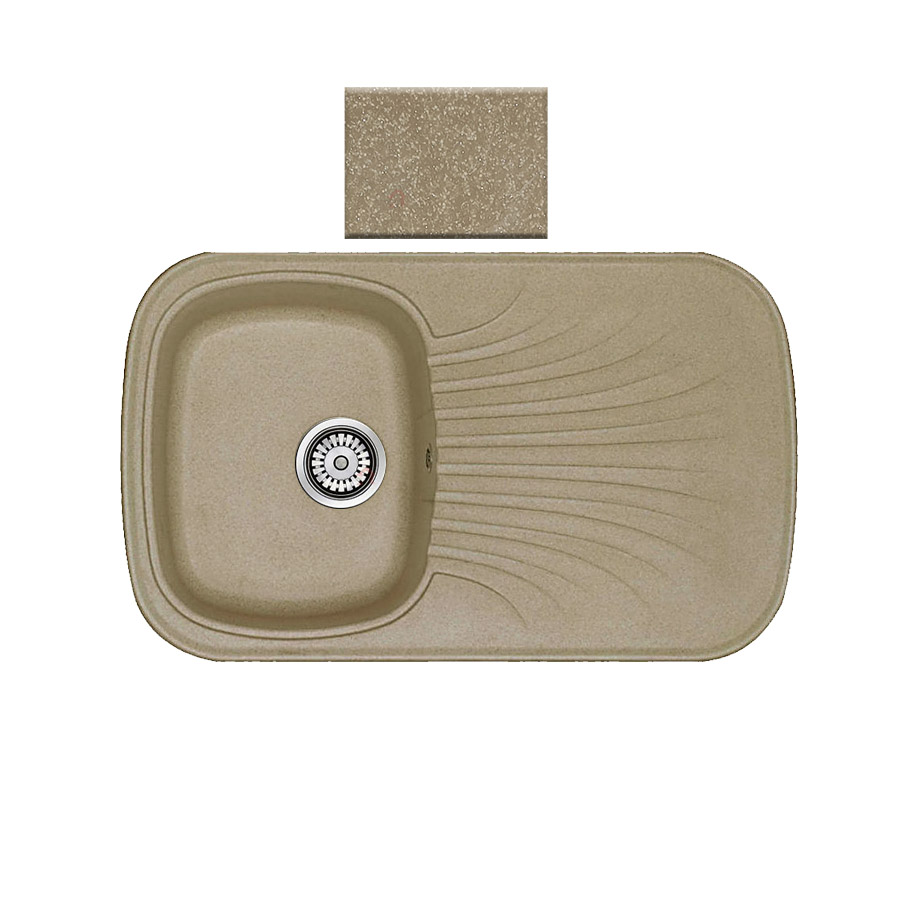 Νεροχύτης συνθετικού γρανίτη αντιστρεφόμενος Sanitec Premium 315 1B1D 82x50cm  Metallic Cream