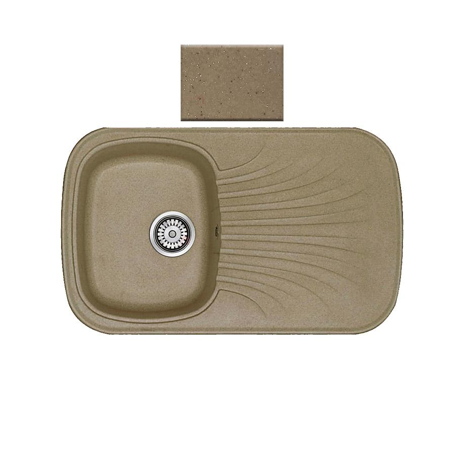 Νεροχύτης συνθετικού γρανίτη αντιστρεφόμενος Sanitec Premium 315 1B1D 82x50cm Metallic Coffee