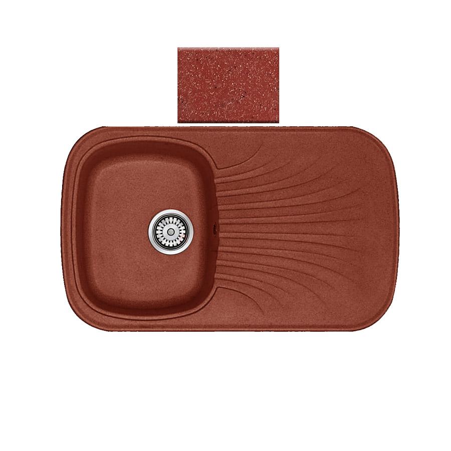 Νεροχύτης συνθετικού γρανίτη αντιστρεφόμενος Sanitec Premium 315 1B1D 82x50cm Granite Terracotta