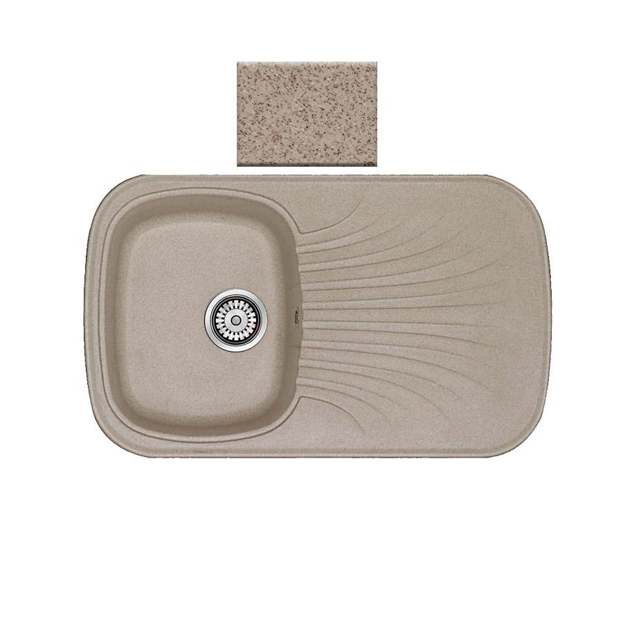 Νεροχύτης συνθετικού γρανίτη αντιστρεφόμενος Sanitec Premium 315 1B1D 82x50cm Granite Sand