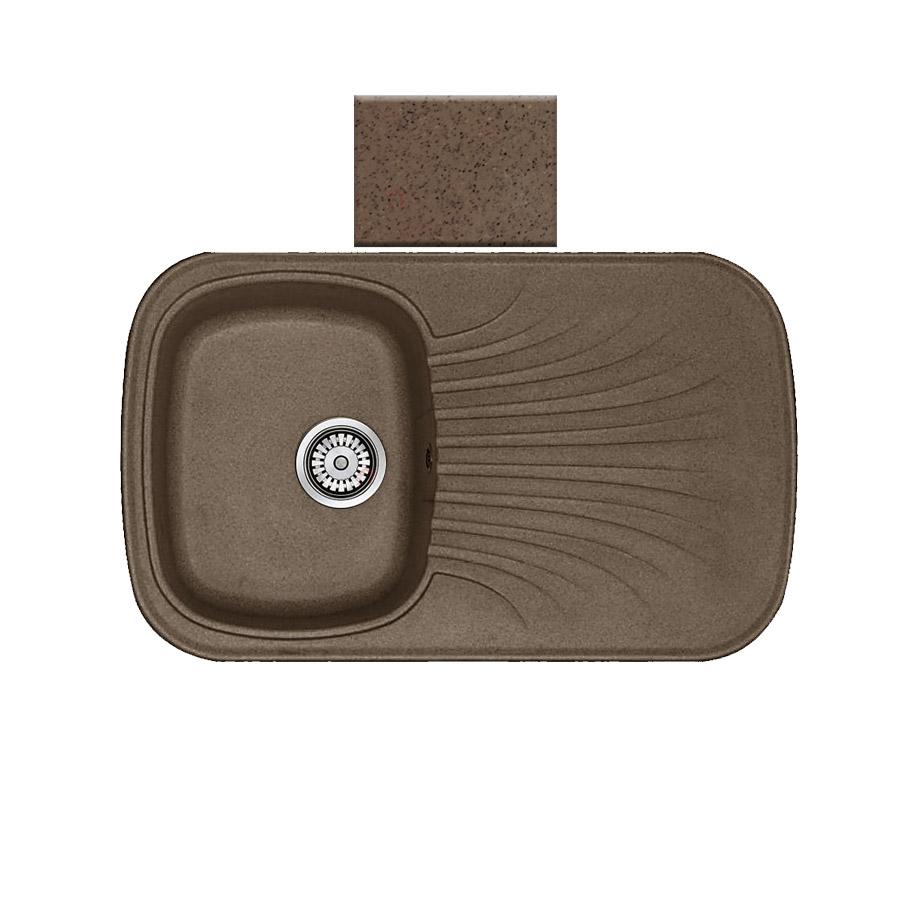 Νεροχύτης συνθετικού γρανίτη αντιστρεφόμενος Sanitec Premium 315 1B1D 82x50cm Granite Rust