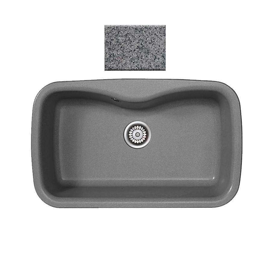 Νεροχύτης συνθετικού γρανίτη Sanitec Silk 321 1B 83x51cm Granite Grey