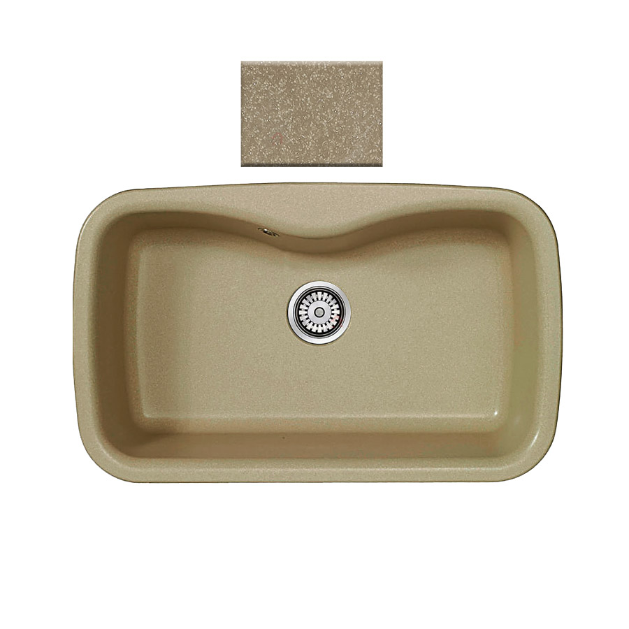 Νεροχύτης συνθετικού γρανίτη Sanitec Silk 321 1B 83x51cm  Metallic Cream
