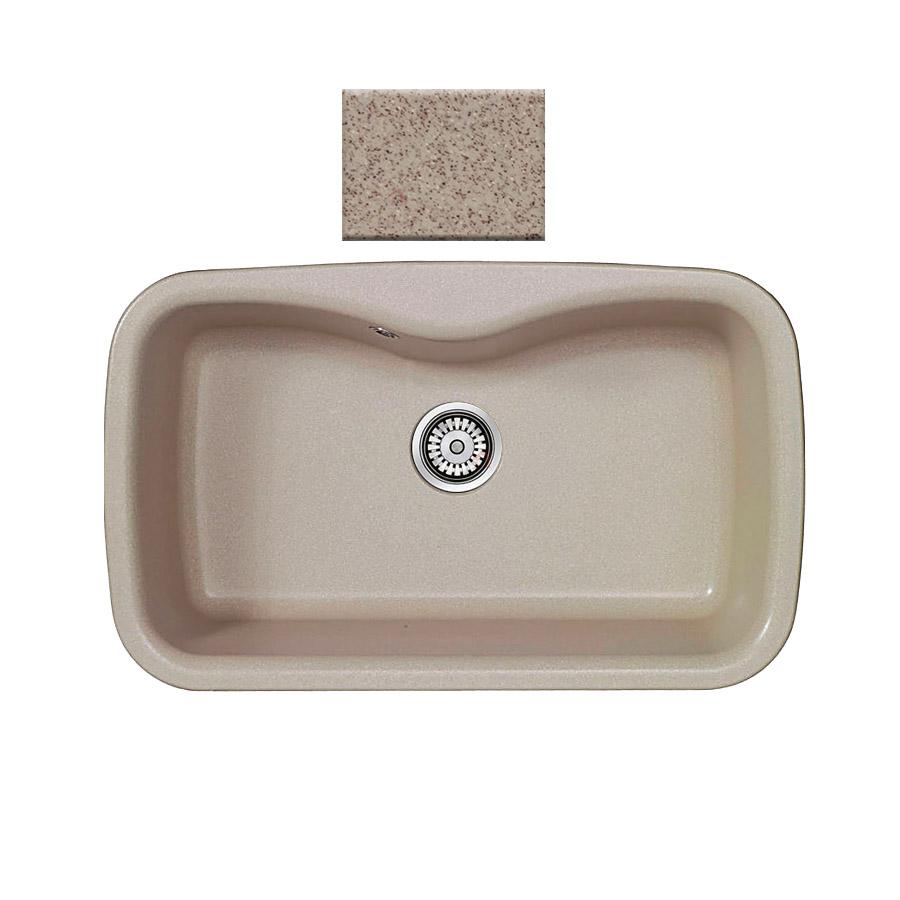 Νεροχύτης συνθετικού γρανίτη Sanitec Silk 321 1B 83x51cm  Granite Sand