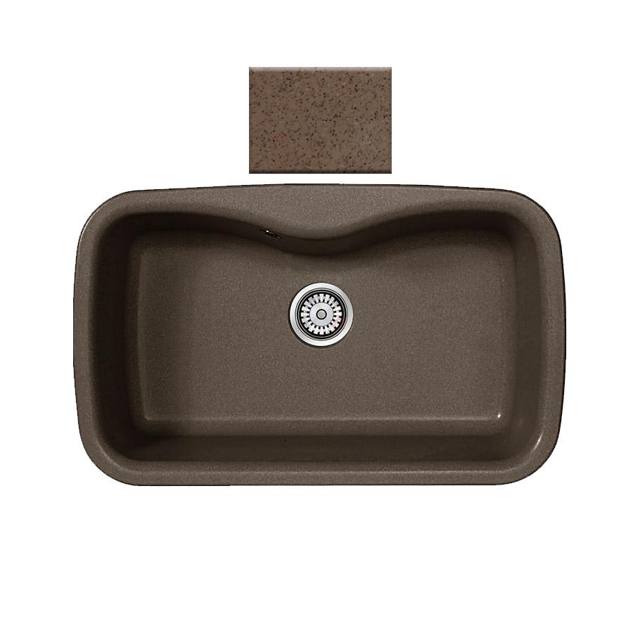 Νεροχύτης συνθετικού γρανίτη Sanitec Silk 321 1B 83x51cm  Granite Rust