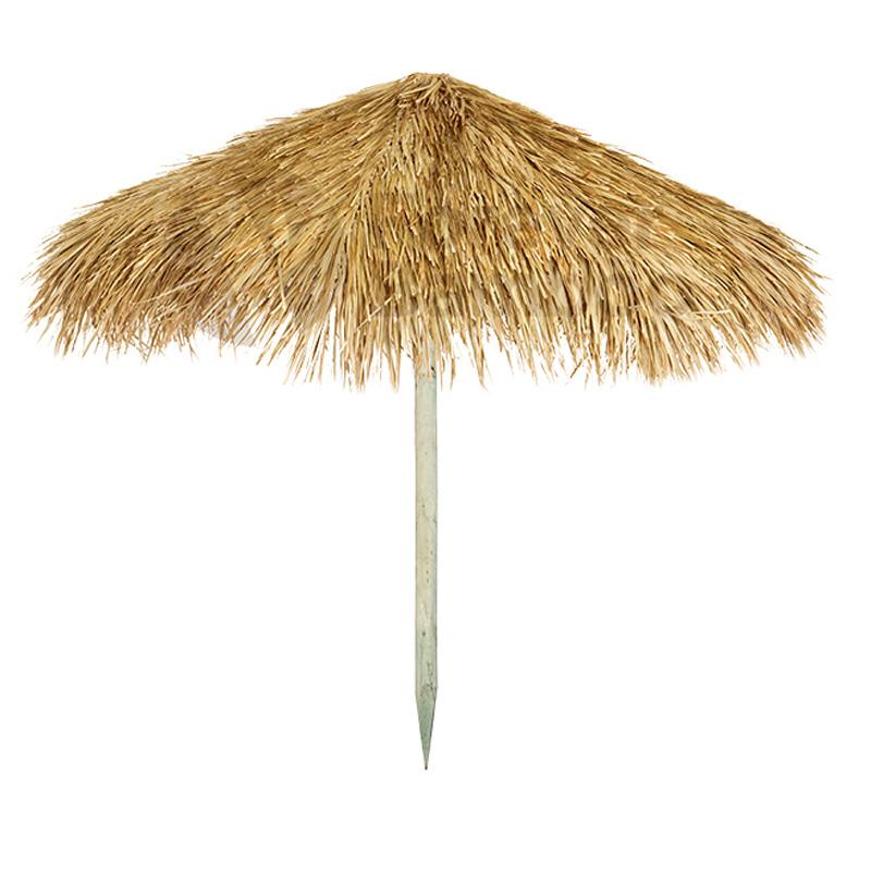 Ξύλινη εμποτισμένη ομπρέλα παραλίας Ø200εκ με ραμμένο φοινικόφυλλο