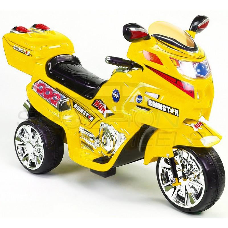 SkorpionWheels Ηλεκτροκίνητη παιδικη μοτοσυκλέτα / μηχανή  6v με τηλεκοντρόλ κίτρινη 5245021