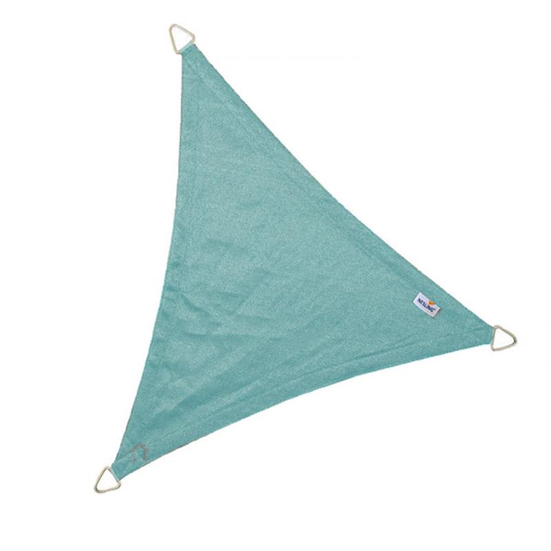 Τρίγωνο πανί σκίασης 285gsm 5 x 5x 5m χρώμα μπλε πάγου