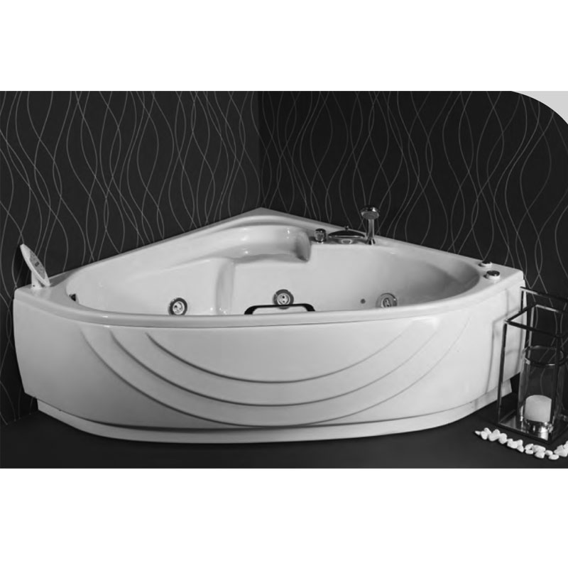 Ακρυλική Μπανιέρα Γωνιακή με υδρομασάζ Sanitec Sabrina 120 x 120 cm