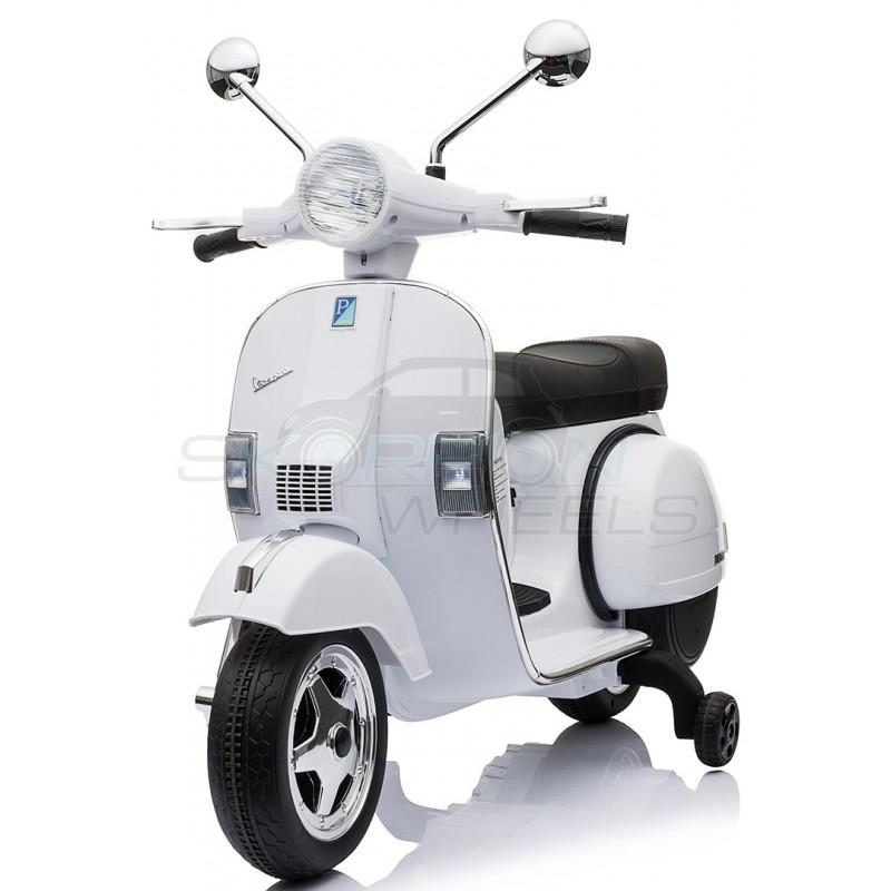 SkorpionWheels Ηλεκτροκίνητη παιδικη μοτοσυκλέτα / μηχανή Vespa Piaggio 12v Λευκή 5245050