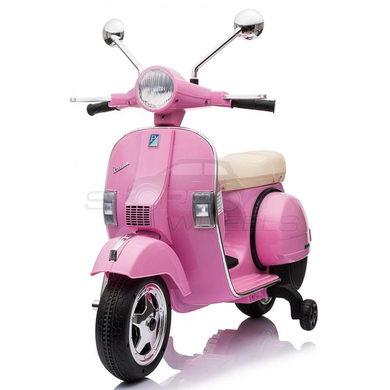 SkorpionWheels Ηλεκτροκίνητη παιδικη μοτοσυκλέτα / μηχανή Vespa Piaggio 12v Ροζ 5245050