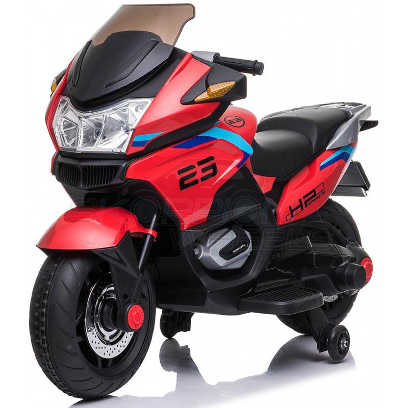 SkorpionWheels Ηλεκτροκίνητη παιδικη μοτοσυκλέτα 12V Κόκκινη 5245009