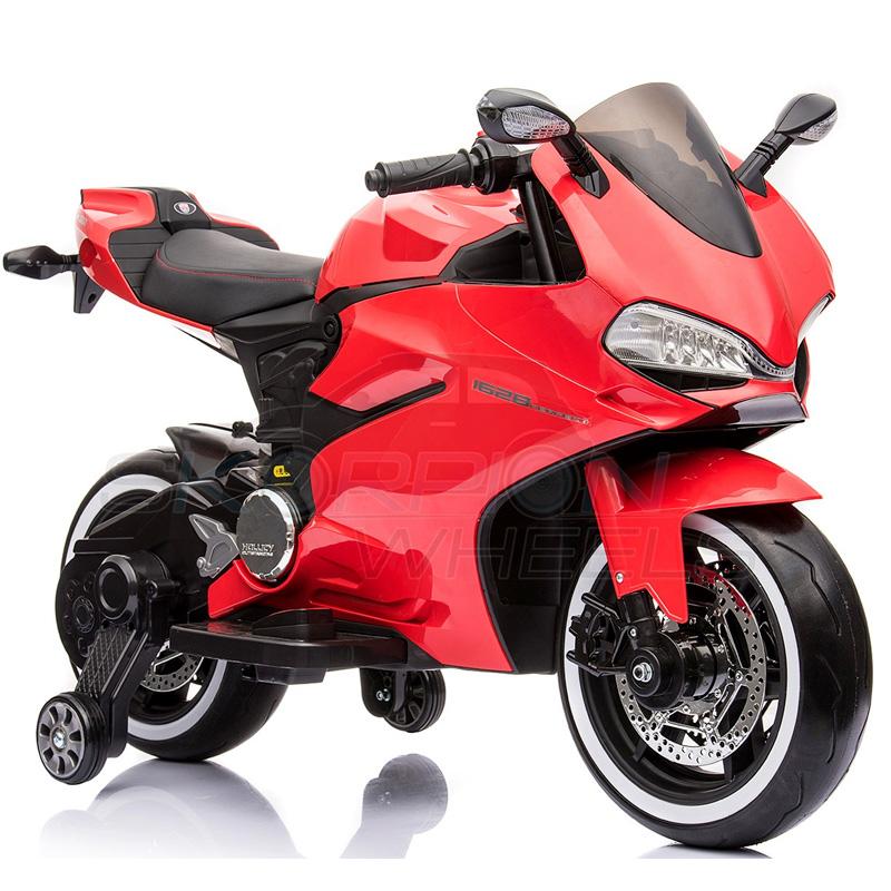 SkorpionWheels Ηλεκτροκίνητη παιδικη μοτοσυκλέτα / μηχανή τύπου Dukati 1999 12v Κόκκινη 5245016