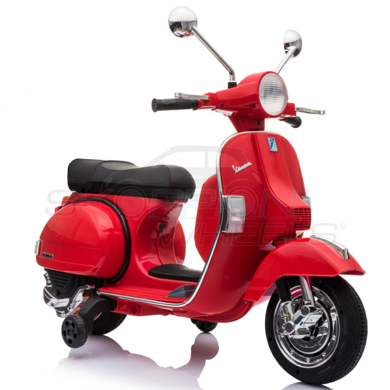 SkorpionWheels Ηλεκτροκίνητη παιδικη μοτοσυκλέτα / μηχανή Vespa Piaggio Licenced  12v Κόκκινη 5245050