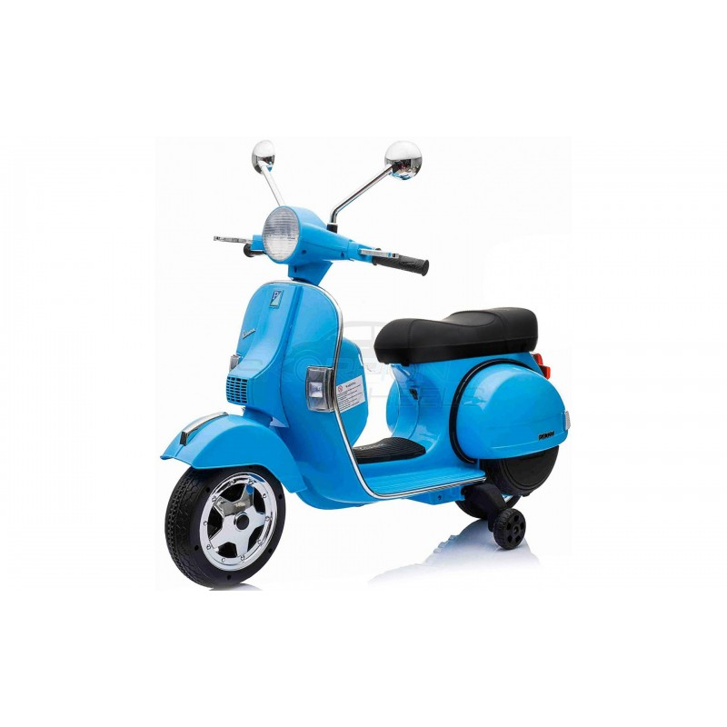 SkorpionWheels Ηλεκτροκίνητη παιδικη μοτοσυκλέτα / μηχανή Vespa Piaggio Licenced 12v Μπλε 5245050