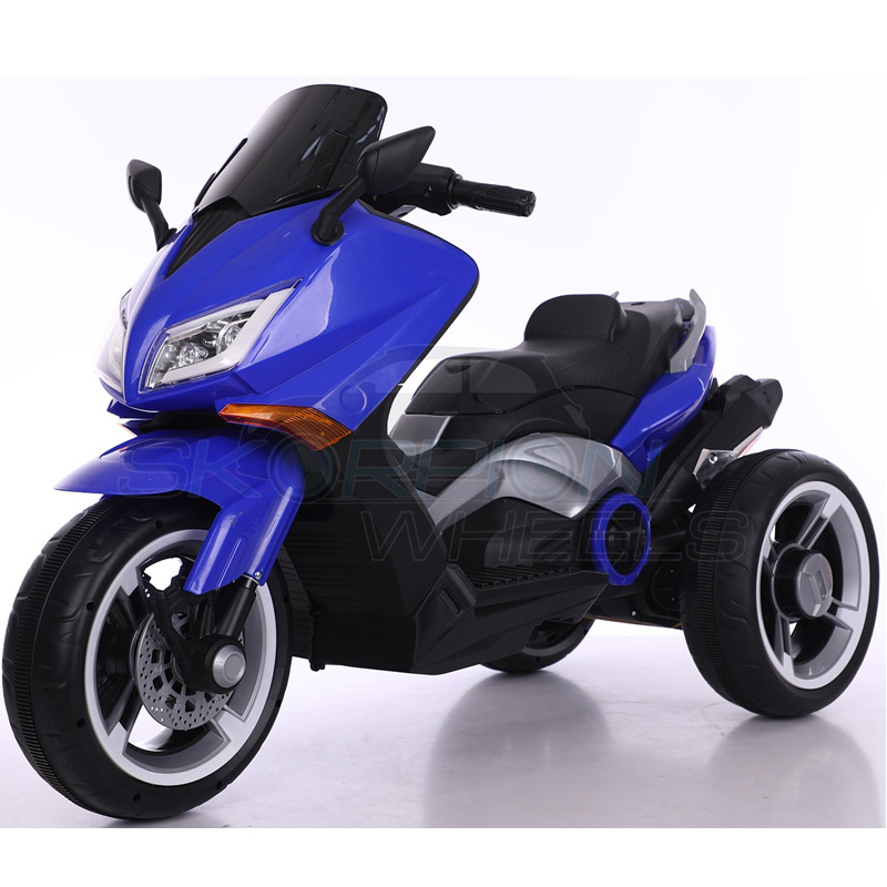 SkorpionWheels Ηλεκτροκίνητη παιδικη μοτοσυκλέτα / μηχανή τύπου Yamaha T max 12v Μπλε 5245090
