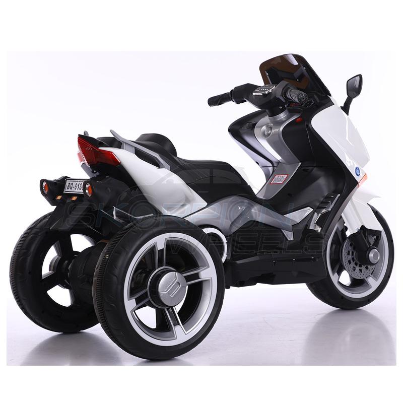 SkorpionWheels Ηλεκτροκίνητη παιδικη μοτοσυκλέτα / μηχανή τύπου Yamaha T max 12v Λευκή 5245090