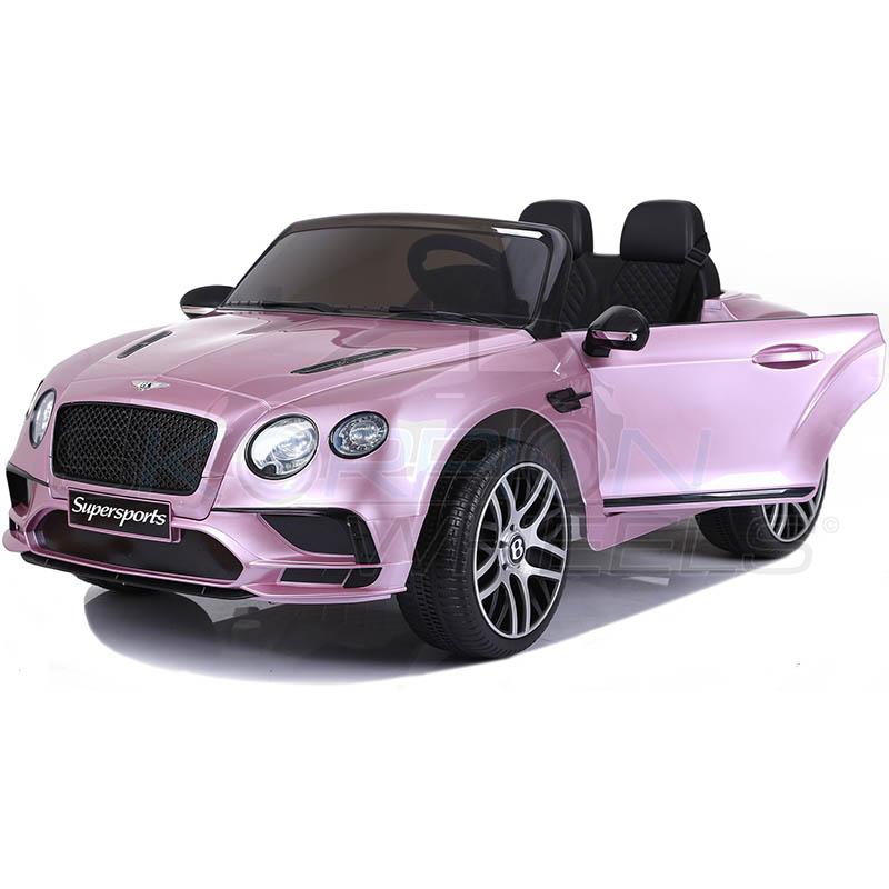 SkorpionWheels Ηλεκτροκίνητο παιδικό αυτοκίνητο Licenced Bentley Continental Supersports  12v με τηλ/τρόλ Ροζ 52460151
