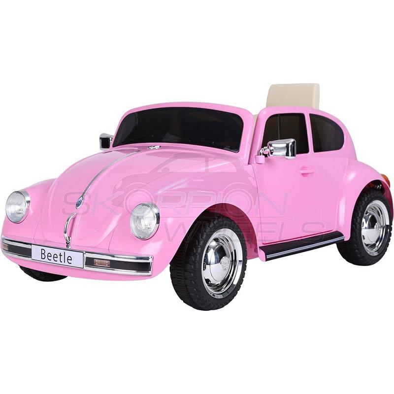 SkorpionWheels Ηλεκτροκίνητο παιδικό αυτοκίνητο Licenced Volkswagen Beetle 12v με τηλ/τρόλ Ροζ 5246018