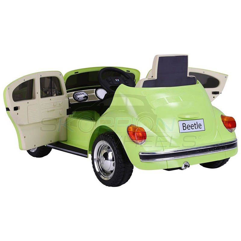 SkorpionWheels Ηλεκτροκίνητο παιδικό αυτοκίνητο Licenced Volkswagen Beetle 12v με τηλ/τρόλ Πράσινο 5246018