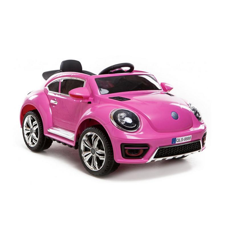 ScorpionWheels Ηλεκτροκίνητο παιδικό αυτοκίνητο τύπου Volkswagen Beetle 12v με τηλεκοντρόλ ροζ 5246020